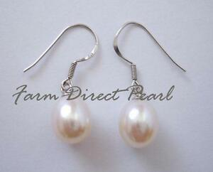 Cultured-Freshwater-White-Pearl-Dangle-Drop-Earrings-Sterling-Silver-Hook