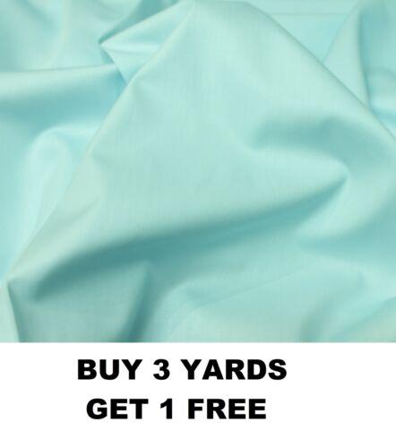 Duck Egg Blue Plain Dyed 100/% Cotton Poplin Crafts Dress-making Fabric Material