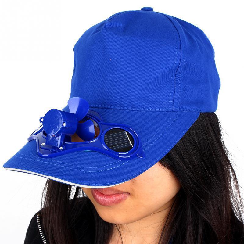 (US) Solar Kappe Luft Fächer Hut Betrieben Panel Cool Baseball Zelten Reisen