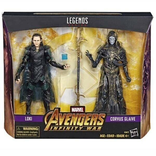Marvel leggende Infinity War Corvus GLAIVE & Loki Confezione da 2