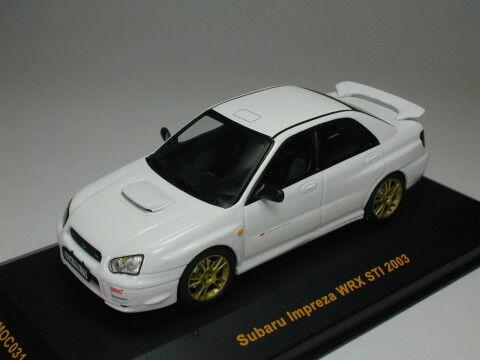 suministramos lo mejor IXO 1 43 Subaru Subaru Subaru Impeza WRX STI 2003 blancoo de Japón  marcas en línea venta barata