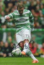 "Hand Signed ""Kris Commons Celtic 12"" x 8"" photo Scotland WITH COA"