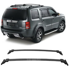 Attractive Fit For 09 15 Honda Pilot OE Black Top Roof Rack Cross Bar Mounting  Accessory