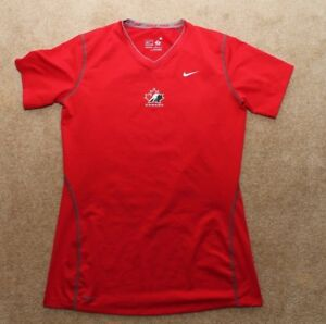Nike-Pro-Team-Canada-Hockey-Base-Layer-Undershirt-Womens-Medium-Red