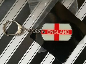 Angleterre Métal X5 St George Cross Drapeau Porte-clés Football/sport Bnwt-afficher Le Titre D'origine