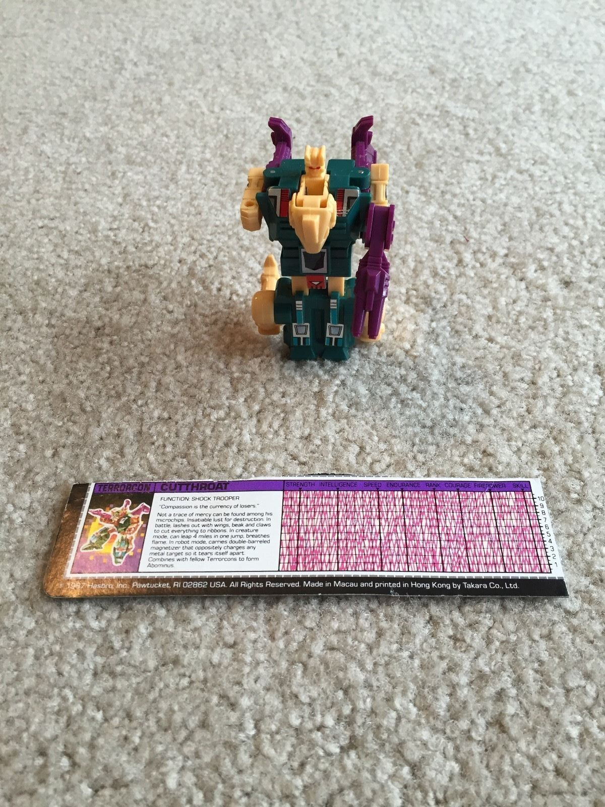 Transformers Cutthroat 100% Complete 1986 G1 Vintage Hasbro Action Figure