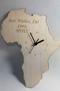 Shape Of Africa Map.Custom Unique Bespoke Africa Shape Clock Africa Map Wooden Ebay