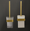 Brushed-gold-Zinc-Alloy-Toilet-Brush-amp-Holder-Bathroom-Toilet-Cleaner-Brush-Set thumbnail 1
