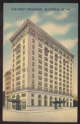 Postcard BLUEFIELD,WV West Virginian Hotel view 1930's