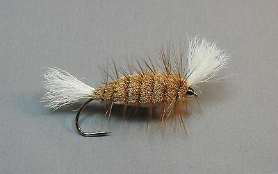 Dark Olive and White Bomber Atlantic Salmon and Trout Fly Size 4