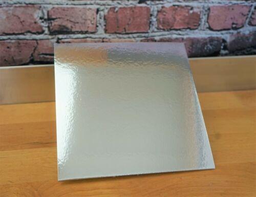 Tortenplatte silber sehr stabile Pappe für Hochzeit Geburtstag Schule 26x26cm