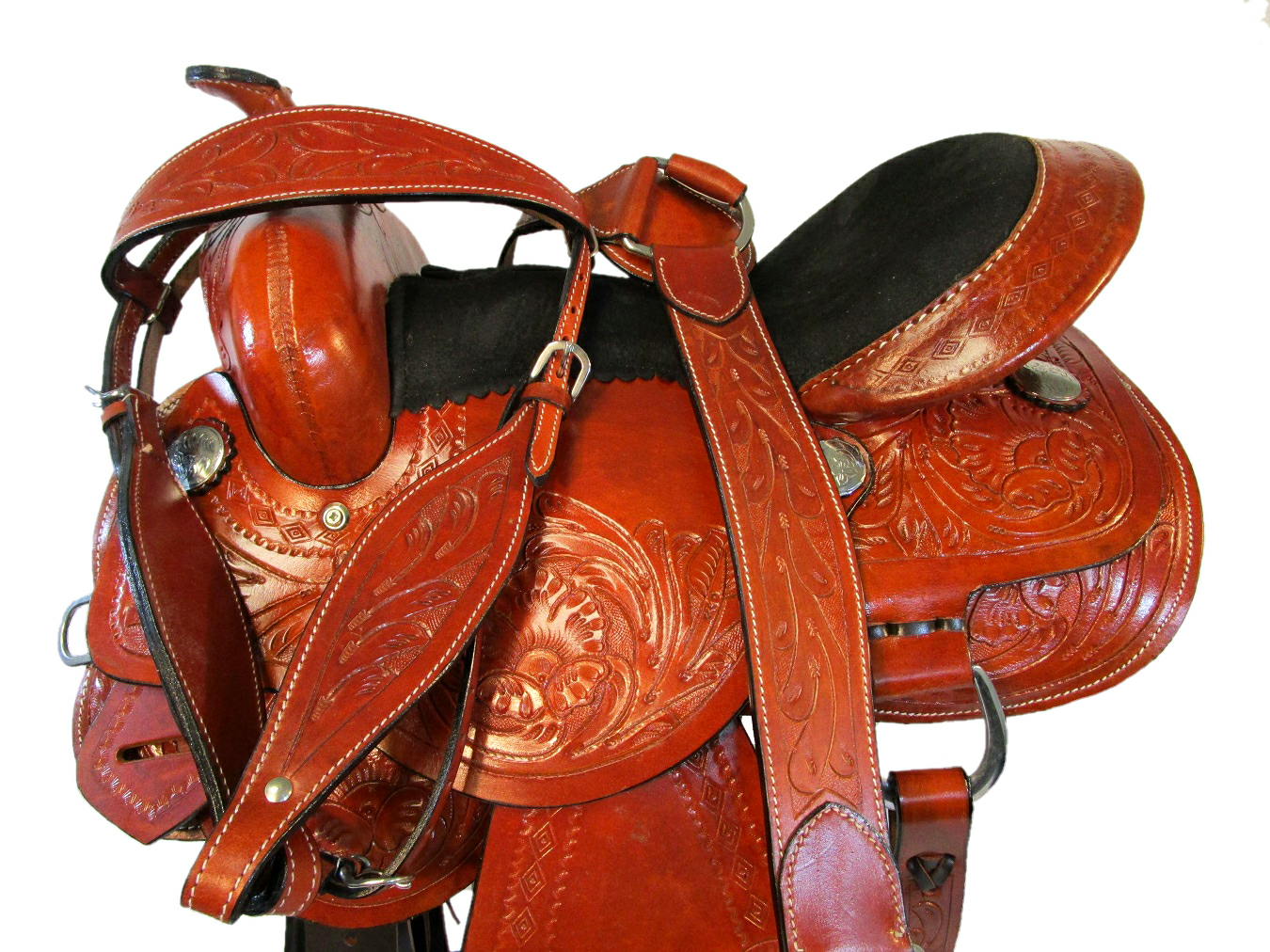 15 16 WESTERN SHOW BARREL Marronee HORSE PLEASURE Marronee RACING SADDLE TRAIL