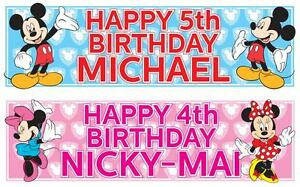 2-PERSONALISED-MICKEY-MOUSE-MINNIE-MOUSE-BIRTHDAY-BANNER-36-034-x-11-034-ANY-NAME