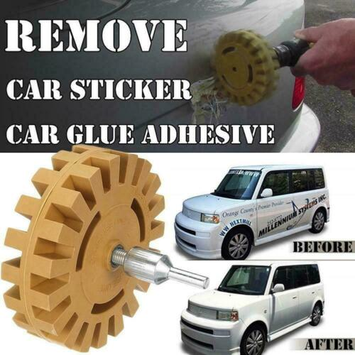1xDecal Removal Eraser Wheel w// Power Drill Arbor Adapter Pinstrip inch T7P8
