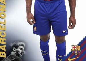 Nwt Nike Sz S Fc Barcelona Home Stadium Soccer Shorts 17 18 Model 847257 455 Ebay