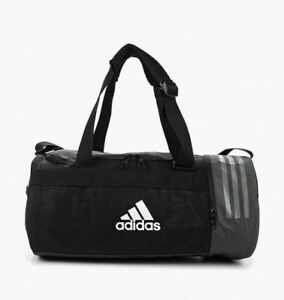 Image is loading Adidas-Training-Backpack-Bags-Convertible-3-Stripes-Duffel- b2b86e8598ba4