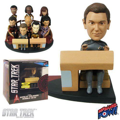 Star Trek The Next Generation Wesley Build-a-Bridge Deluxe Bobble Head Exclusive