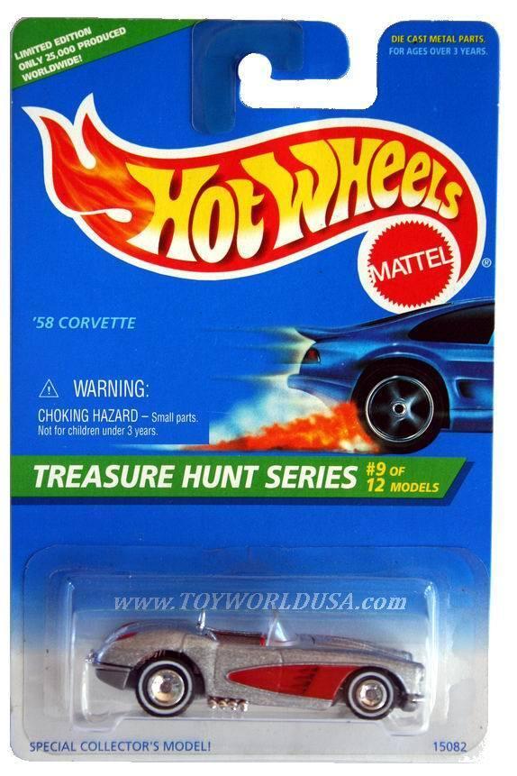 tienda de venta 1996 Hot Wheels Treasure Hunt Hunt Hunt Series   9'58 Corvette  hasta 42% de descuento