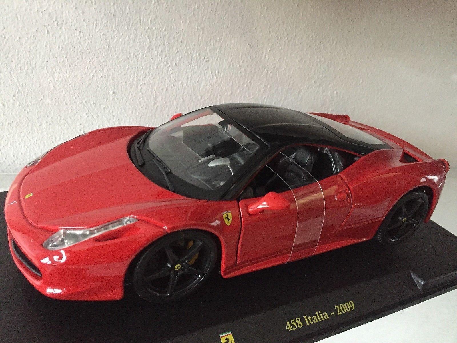Ferrari F 458 Italia 2009 red - DIE CAST 1 24