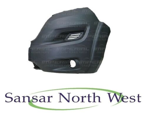 Peugeot Boxer Passenger Front Bumper Corner Dark Grey With Lamp Holes LEFT N//S