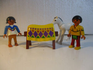 Playmobil-Western-Indiens-Poney-enfants