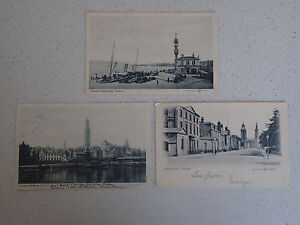 Vintage-Postcard-Set-of-Three-of-Greenock-with-stamps-63-64-65