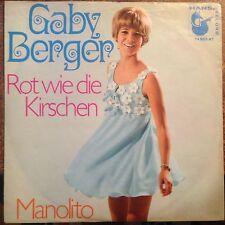 7'Gaby Berger  >Rot wie die Kirschen/Manolito< Hansa