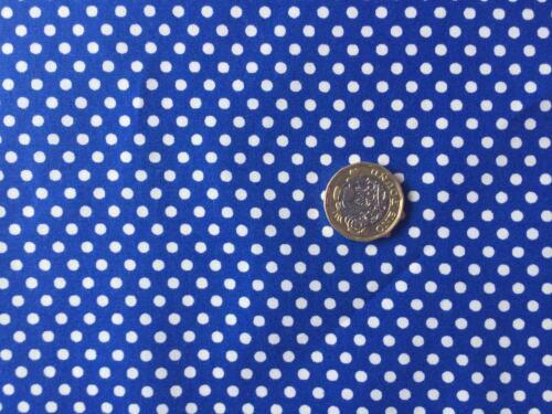 3mm Polka Dots ~ Royal Blue 100/% cotton fabric
