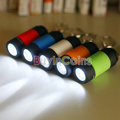 Safety Mini Pocket Keychain Torch USB Rechargeable LED Light Flashlight Small
