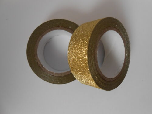 Beautiful 5m roll Glitter Self adhesive Tape great for cards /& crafts 9 themes