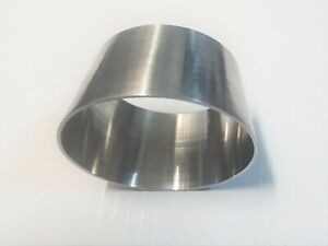 """SS 304 Reducer 3/"""" to 3.5/"""" Transition Polished Stainless Steel Length 38 mm"""