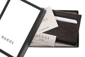 d910dd576dc Image is loading NEW-GUCCI-BROWN-LEATHER-GUCCISSIMA-CREDIT-CARD-HOLDER-