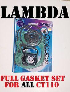 Full-Gasket-Set-Top-End-bottom-end-Set-CT110-Honda-Postie-Bikes-CT110X-amp-hi-lo