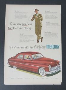 Original-Print-Ad-1948-MERCURY-4-Door-White-Wall-Tires-Vintage-Art