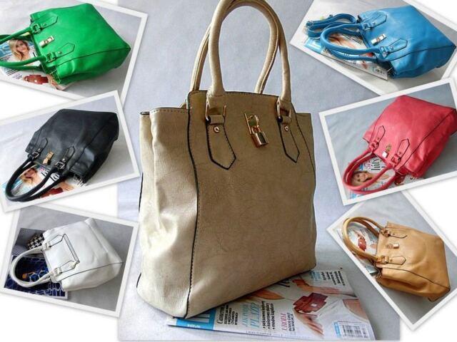 Top Woman Designer Large Leather Style Tote Shoulder Bag Satchel Ladies Handbags