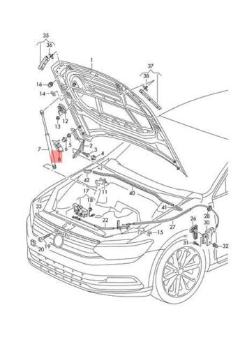 Genuina Cubierta Con Bisagras Izquierda VW Magotan Passat Variant Santana 3G0823315C 4 Motion