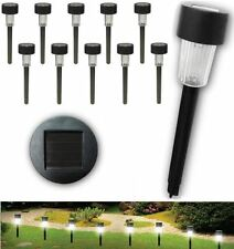 SET OF 10 PLASTIC GARDEN WEDDING PATH OUTDOOR LED SOLAR LIGHT TORCH LANTERN LAMP