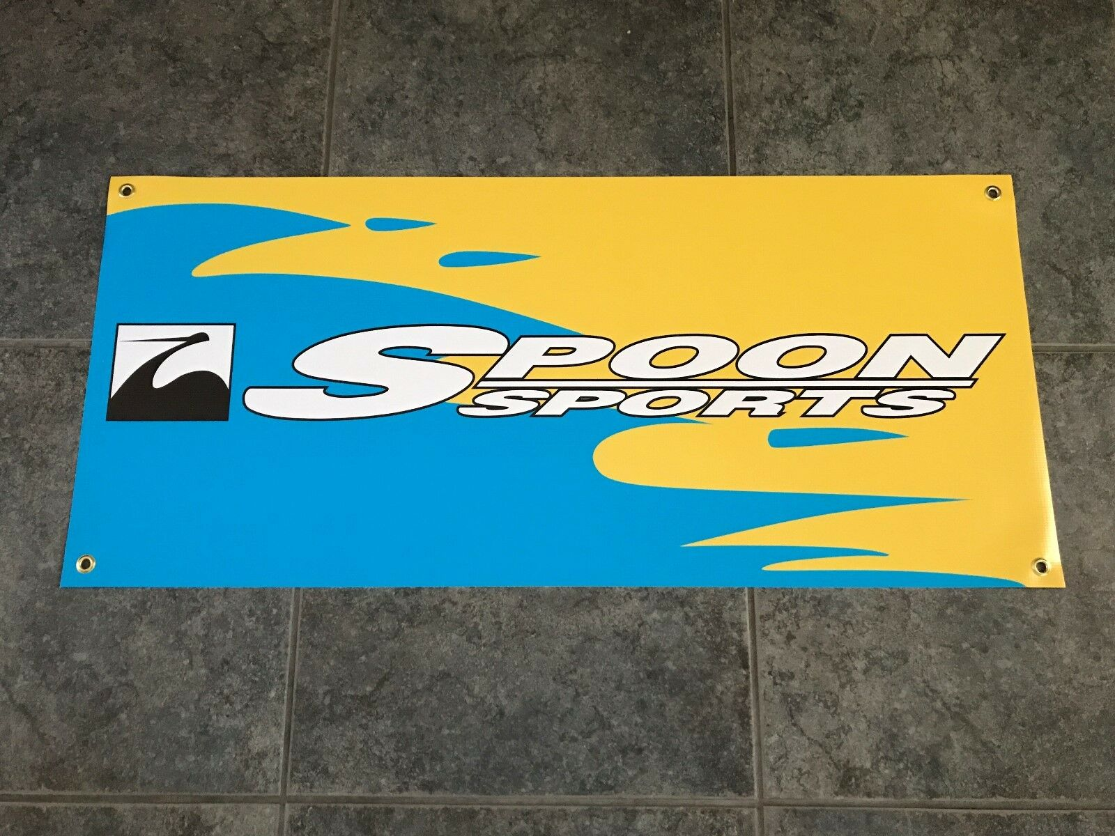 Spoon Sports Graphic Banner Sign Shop Garage Racing Tuning All Motor JDM Honda