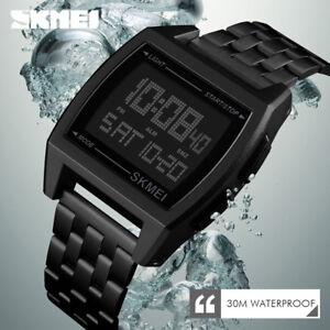 SKMEI-Watch-Waterproof-Luxury-Mens-Sport-Watches-LED-Digital-Military-Wristwatch