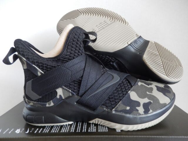 d2bb8eb3e40 Nike Lebron Soldier 12 SFG Camo Mens Ao4054-001 Black Hazel Rush Shoes Size  11