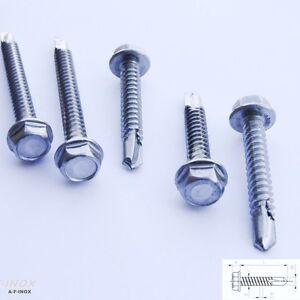 Bohrschrauben DIN 7504 K  4,2// 4,8// 5,5//6,3 mm Edelstahl Blechschraube Sechskant