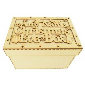 Personalizzata-in-LEGNO-MDF-Vigilia-di-Natale-Scatola-Notte-Prima-Di-Natale-Regalo-CP50