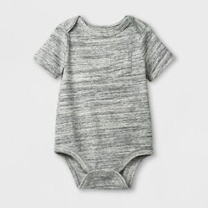 0128c9e98 Cat   Jack Baby Boys  Grey Short Sleeve Spacedye Bodysuit