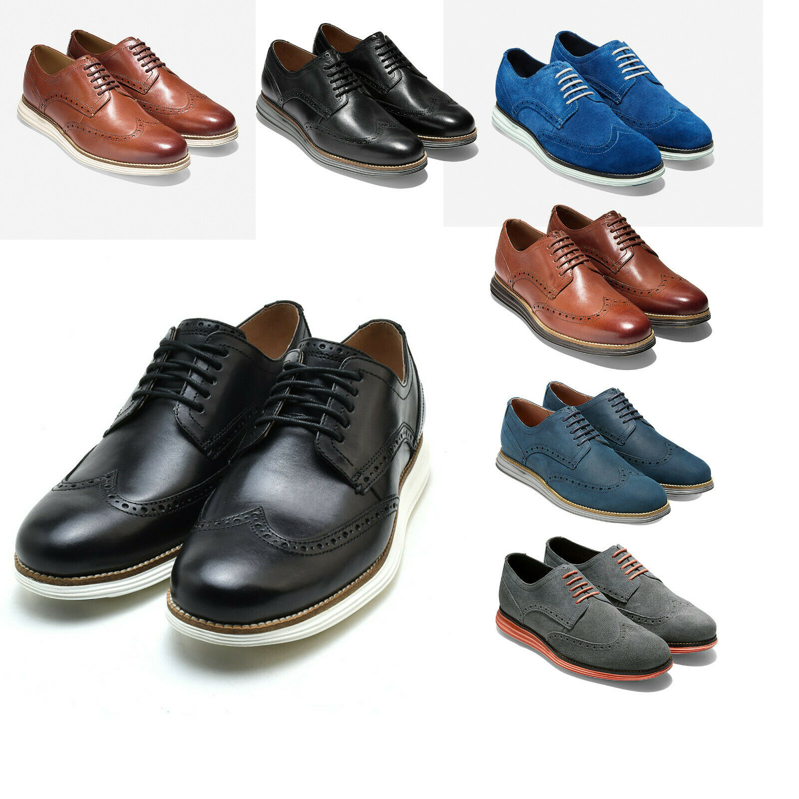 Mens COLE HAAN ORIGINAL GRAND SHORTWING OXFORD Leather schuhe NEW