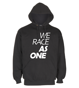 Black-Pullover-Hoodie-Perfect-For-Car-Guys-WE-RACE-AS-ONE-New-Design-PETROLHEAD
