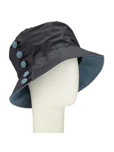 Olney WAXED COTON BOUTON Pluie Chapeau Bleu Marine//Bleu Armée de l/'air Taille Unique Neuf Free p/&p