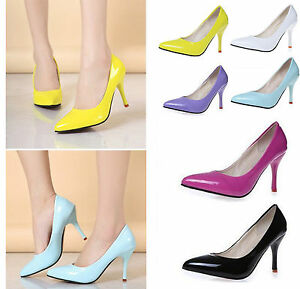 Women-High-Heels-Stiletto-Pumps-Lady-Party-Dress-Slim-Low-Shoes-Pointy-Toe
