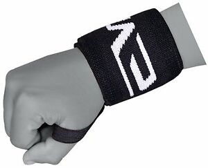"""EVO Weightlifting wrist Support Wraps 18"""" Gym Straps Elasticated Bandage Fitness"""