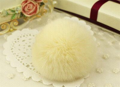 Ultra Luxury Warm Soft Real REX Rabbit Fluffy Fur Ball Handbag Key Chain Phone