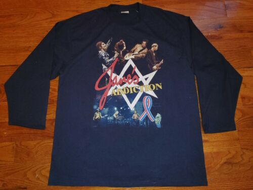Vintage 90s Janes Addiction Long Sleeved Black Tou